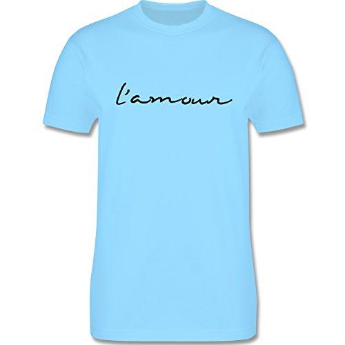 Statement Shirts - l'amour Liebe - Herren Premium T-Shirt Hellblau
