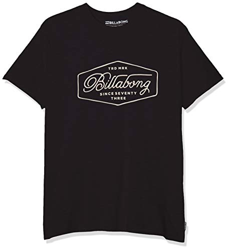 BILLABONG Herren Kurzarm-t-Shirt Trademark SS, Black, L, N1SS15 BIP9 19 - Billabong Shirt Schwarz