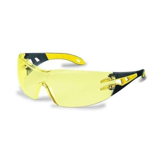 Uvex Arbeitsschutzbrille/Bügelbrille 9192 pheos, gelb/schwarz, 1 Stück, 9192385