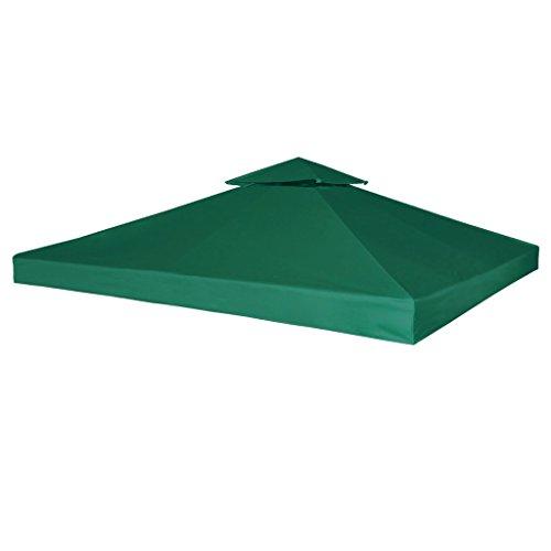 vidaXL Copertura Impermeabile Verde 3x3m Ricambio Tetto Gazebo Tenda Chiosco