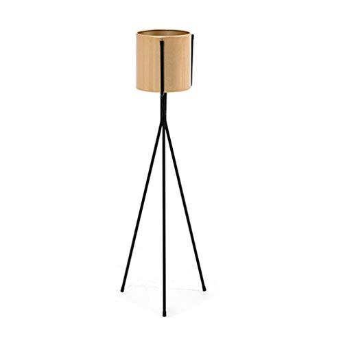 LIYANHJ Metallbetriebsstand-moderner Innen-Topfpflanzehalter im Freien, schwarzer rostfreier Eisen-Präsentationsständer mit rutschfesten Mattenfüßen, halten bis zu 5.9/6.7 Zoll Pflanzgefäß
