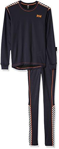 Helly Hansen Kinder Jr Hh Active Flow Set Baselayer Shirt + Tights 12 Graphitblau | 07040055210675