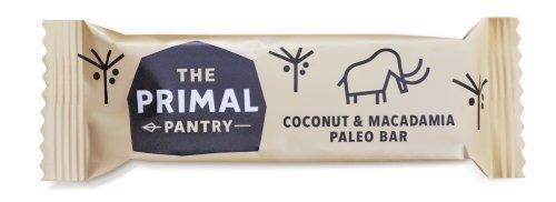 Frei Von Milchprodukten (Primal Pantry Energieriegel Spenderbox (18 x 45g) - Kokonuss & Macadamianüsse - Paleo Nahrung - Geeignet für Vegetarier und Veganer - 100% frei von Gluten, Getreide, raffiniertem Zucker, Soja, Milchprodukten, GMO und pflanzlichem Öl)