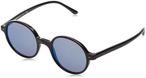 Armani Herren 0AR8097 501704 49 Sonnenbrille, Black/Greymirrorbluee