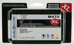 Armor b10306re Ink Cartridge–Ink Cartridges (Black, Cyan, Magenta, Yellow, HP, HP OfficeJet 6100ePrinter, 6600H711a, 6700Premium H711N, 7110Wide Format ePrinter, 7510Wide For) (Ink Officejet Magenta)