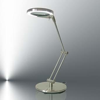 lampe loupe de table led nina ccfl blanc lumi re du jour. Black Bedroom Furniture Sets. Home Design Ideas