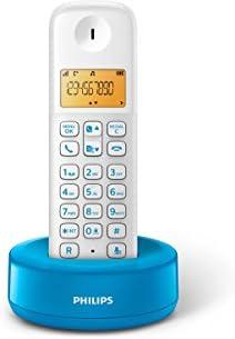 Philips - Teléfono inalámbrico con pantalla iluminada de 4.1 cm, 10hrs conversación