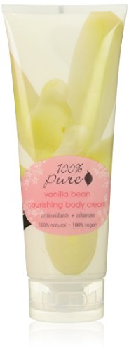 100% Pure: Vanilla Bean Nourishing Body Cream, 8 oz, Concentrated with Potent Anti Aging Antioxidants, Vitamins, Skin Softening Fruit Oils and Moisturizing Cocoa and Avocado Butters by 100% Pure