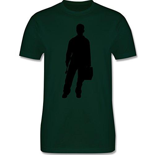 Handwerk - Installateur - Herren Premium T-Shirt Dunkelgrün