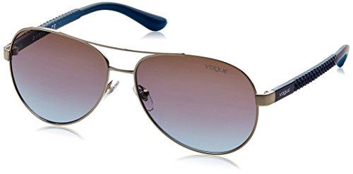 Vogue Gradient Aviator Women'S Sunglasses - (0Vo3997S323/4858|58. 0|Azure Grad Pink Grad Brown) image