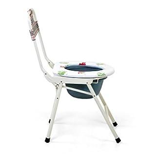 AMYMGLL Faltende Toiletten-Gerätshightening und grober älterer sitzender Schemel-Stuhl-sitzender Schemel-Schwangere Frauen-Sitz-Schemel mit Abdeckungs-Kommode