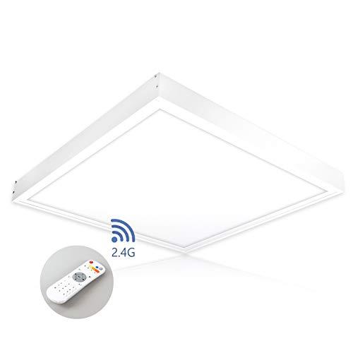 LED Deckenleuchte dimmbar mit Fernbedienung 60x60 cm 40W LED Panel Deckenlampe Lichtfarbe umschaltbar warmweiß neutralweiß tageslichtweiß wireless PLs3.0 -