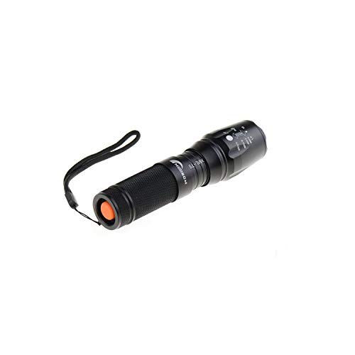 Moobom Lampe torche LED 2000 Lumens 5 modes zoom ajustable (batterie 18650/26650/piles AAA)