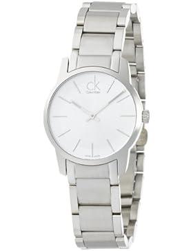 Calvin Klein Damen-Armbanduhr XS City Lady Analog Edelstahl K2G23126