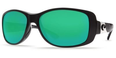 Costa Del Mar Tippet Polarized Sunglasses - Costa 580 Glass Lens - Women'S Black/Green Mirror, One
