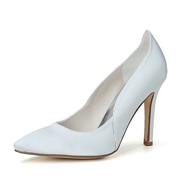 Wuyulunbi@ Scarpe donna raso Primavera Estate della pompa base scarpe matrimonio Stiletto Heel punta per la festa di nozze & Sera arrossendo US8.5 / EU39 / UK6.5 / CN40