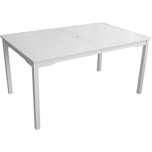 4-teilige Gartengarnitur Gartentisch 150x90cm + 3-Sitzer Gartenbank Sitzbank + 2x Gartensessel aus FSC zertifiziertem Eukalyptusholz Sitzgruppe Sitzgarnitur - 2