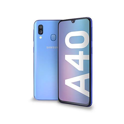 Samsung Galaxy A40 Display 5.9', 64 GB Espandibili, RAM 4 GB, Batteria 3100 mAh, 4G, Dual SIM Smartphone, Android 9 Pie, (2019) [Versione Italiana], Blu