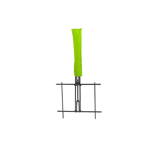 Siena Garden Balkonschirm Twinsoll, L 220 x B 150cm, Gestell: Stahl, pulverbeschichtet in anthrazit, Bezug: Polyester, 180g/m² in limette, Lichtschutzfaktor: UPF 50+