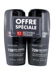 Biotherm Herren Day Control Deodorant Roll schweißbeständig 72H Lot de 2x 75ml