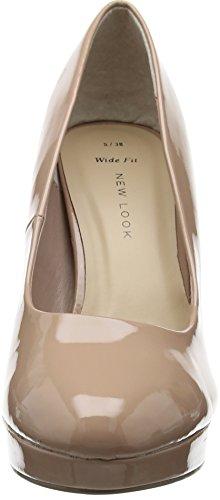 New Look Wide Foot Splendor, Escarpins femme Beige - Beige (14/Cream)