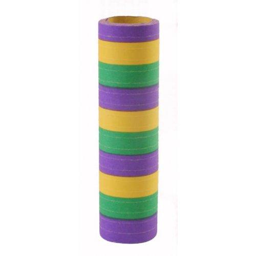 Luftschlangen lila-grün-gelb / Mardi Gras 1 Stück