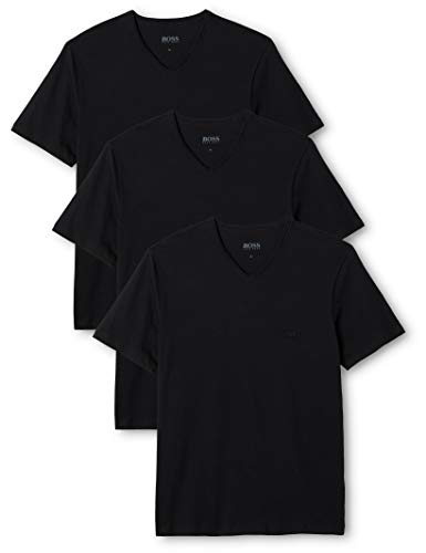 Boss Black, Aus Baumwolle (BOSS Herren VN 3P CO T - Shirts, Schwarz (Black 001), Small (erPack 3)