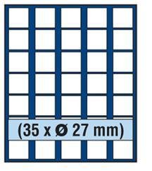 SAFE MÜNZBOX NOVA Nr. 6327 - 35 x 27 mm QUADRATISCHE FÄCHER - IDEAL FÜR 2 EURO - 2 SLOTY - 2 DM - 1 US $ DOLLAR PRESIDENTIAL MÜNZEN oder Münzen bis zu einem Durchmesser von 27 mm - Münzenboxen - Münzboxen - Münzelemente (Münzen Presidential Dollar)