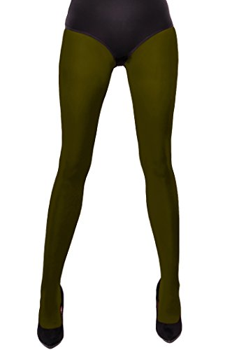 Aurellie Damen Strumpfhose 60 DEN Gr. Medium, olivgrün (Olivgrün Strumpfhosen)