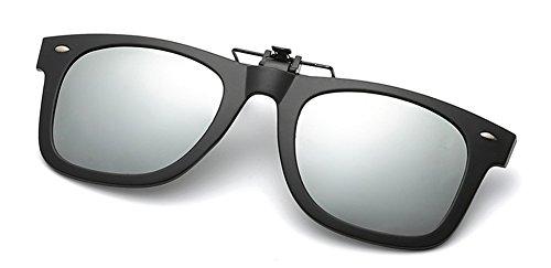 DAUCO Sonnenbrille Aufsatz, Clip on Polarisiert Clip polarisierte Sonnenbrille Flip up Sonnenbrille Clip Gegen Licht für Frauen und Männer