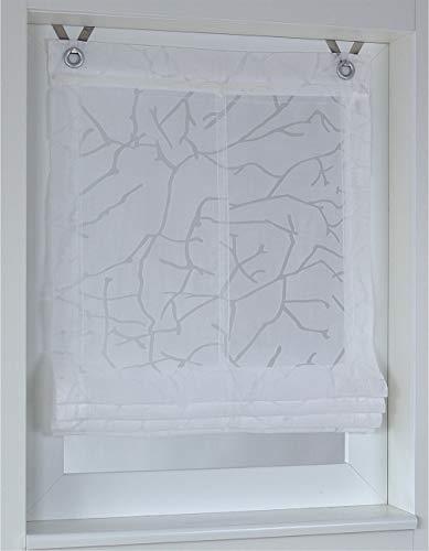 Tenda a pacchetto jerry bianco con occhielli 45 * 140 cm