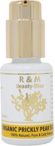 R&M Kaktusfeigenkernöl Bio - Premium Kaktusfeigenöl Für Gesicht, Körper, Haut & Haar - Prickly Pear Seed Oil Für Eine Schönere Haut Und Ein Reines Gesicht - Kaktusöl 30ml Pump-Flasche