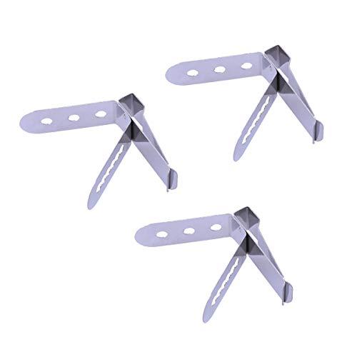BESTONZON 3pcs Food Grade Edelstahl Thermometer Halter Sonde Clip Halter (Muster 1) Muster-clip