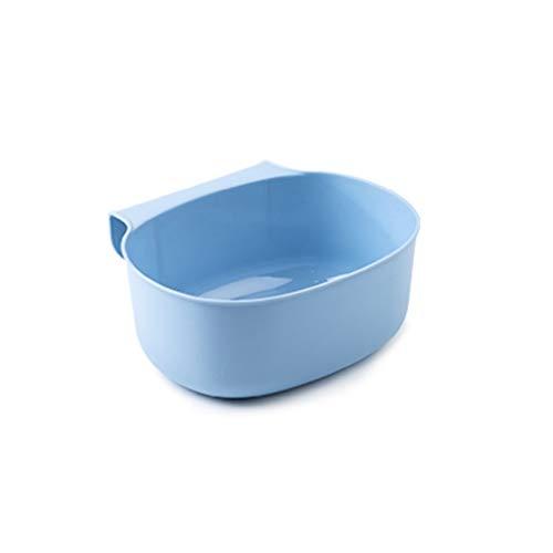 Zlw-shop Secchi per la spazzatura Scatola di immagazzinaggio da tavolino Creativa Creativa della Scatola di immagazzinaggio da tavolino appendibile della Cucina (Color : Blue)