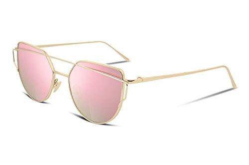 FEISEDY - Gafas de sol - para mujer rosa Pink/Gold