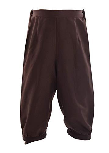 (BLESSUME Retro Kolonialen Herren Schick Kostüm Kurz Hose Reiten Dickens Hose Steampunk viktorianisch Hose (braun, M))