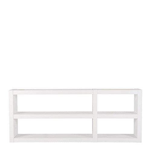 DENSO, étagères XL 226 cm, massives et solides, elles ont du caractère - 226 x 34 x 90 cm - blanc haute brillance