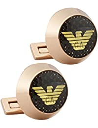 Rose Gold Eagle With Carbon Detail Executive Cufflinks For Men