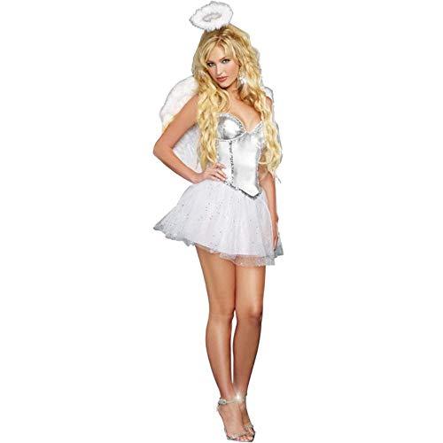 Engel Tanz Kostüm - Halloween M-XL Größe Vampir Engel Kostüm Frauen Kleidung, Farbe, M