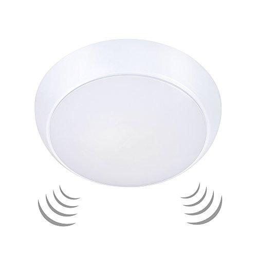 Ustellar 15W LED Deckenleuchte mit Bewegungsmelder, Wasserfest Deckenlampe Ersetzt 120W Glühlampe, 1200LM 3000K Ø26cm Sensor Wandleuchte, 6-8 m Reichweite, Warmweiß Licht (Sensor Garage Licht)