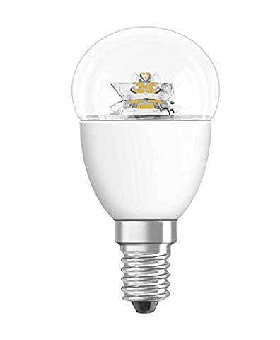 OSRAM LED STAR CLASSIC P / LED lamp, classic mini ball shape, with screw base: E14, 5.70 W, 220…240 V, 40 W replacement, clear, Warm White, 2700 K,