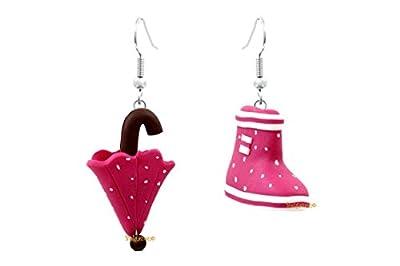 """Lady-Charms - fait-main - Boucles d'oreilles""""Botte et Parapluie"""""""