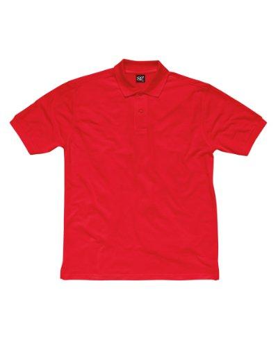 SG-Polo in cotone, uomo Rosso