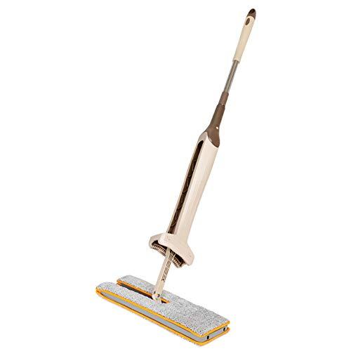 ROSOY Doppelseitiger Mopp Self Wringing Flat 360 Spin Lazy Mop Bodenreinigung Hartholzboden Küche