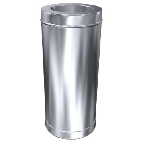 MK sp. Z o.o. Schornstein, Rohr 1000 mm, Edelstahl doppelwandig, ø 150 mm (210 mm) Edelstahl glänzend Keine Farbe wählbar -