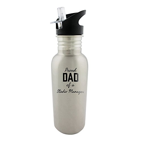 stainless-steel-bottle-with-straw-top-of-proud-dad-of-a-studio-manager