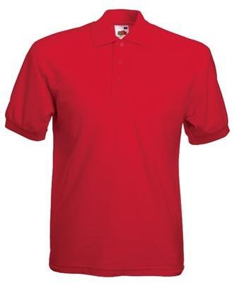Fruit of the Loom - Polo-Shirt 'Piqué Polo 65/35' Red,XXL (Golf Pique Herren Polo)