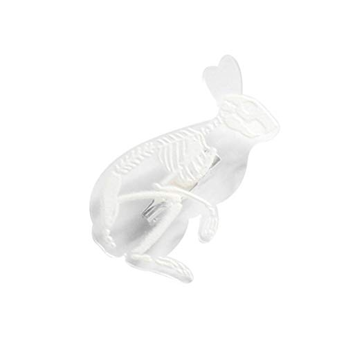 Provide The BestUnisex Acrylic Animal Skeleton Brooch Corsage Pin Resin Cat Pig Rabbit Penguin Transparent Breastpin Jewelry Gifts