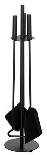 Alpertec Kamingarnitur Eisen beschichtet, 1 Stück, schwarz, 39030100