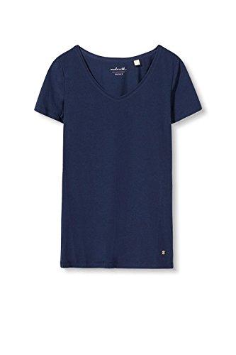 Esprit 126ee1k007, T-Shirt Femme Bleu (Navy)